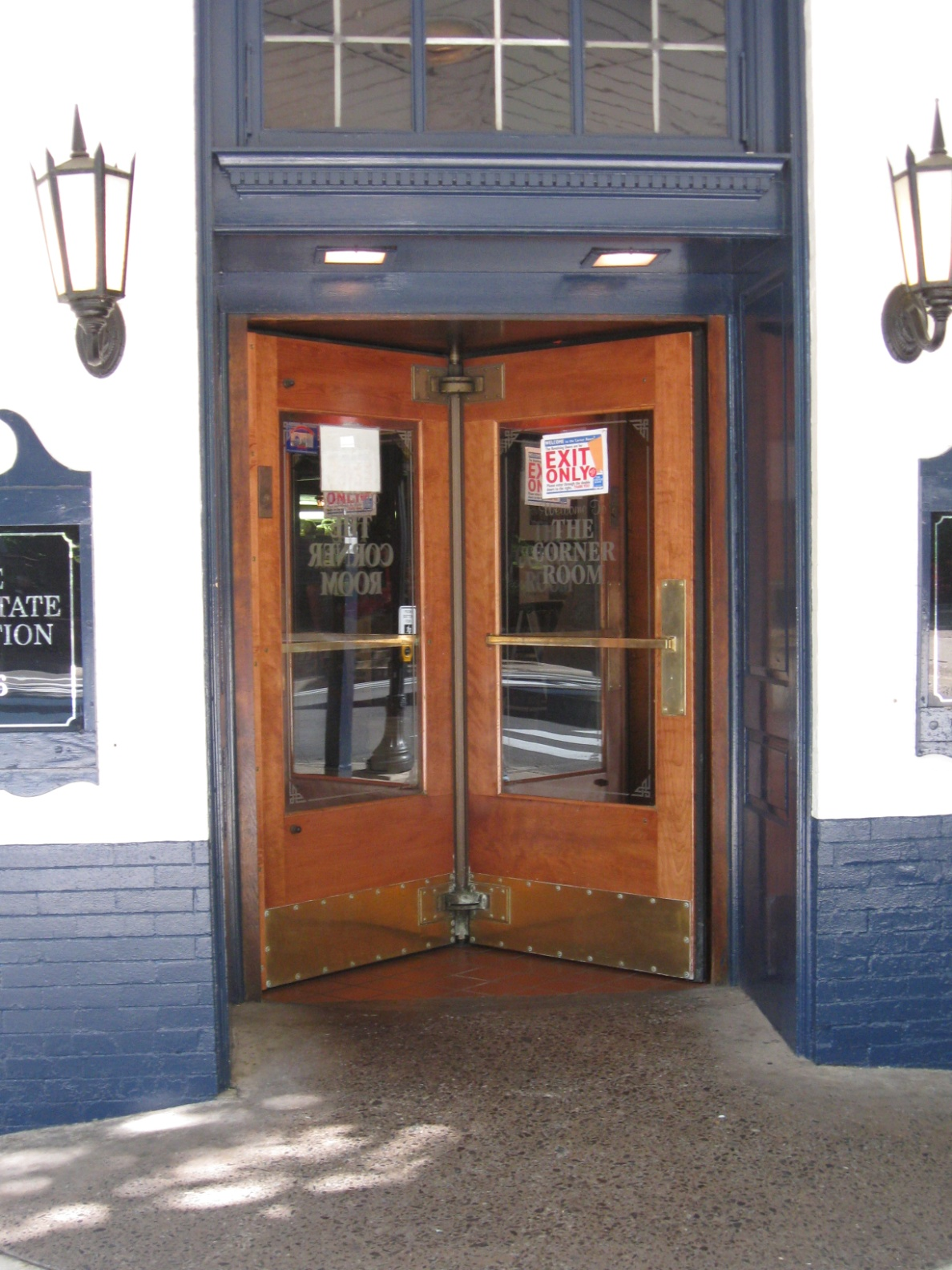 The Corner Room's Revolving Door