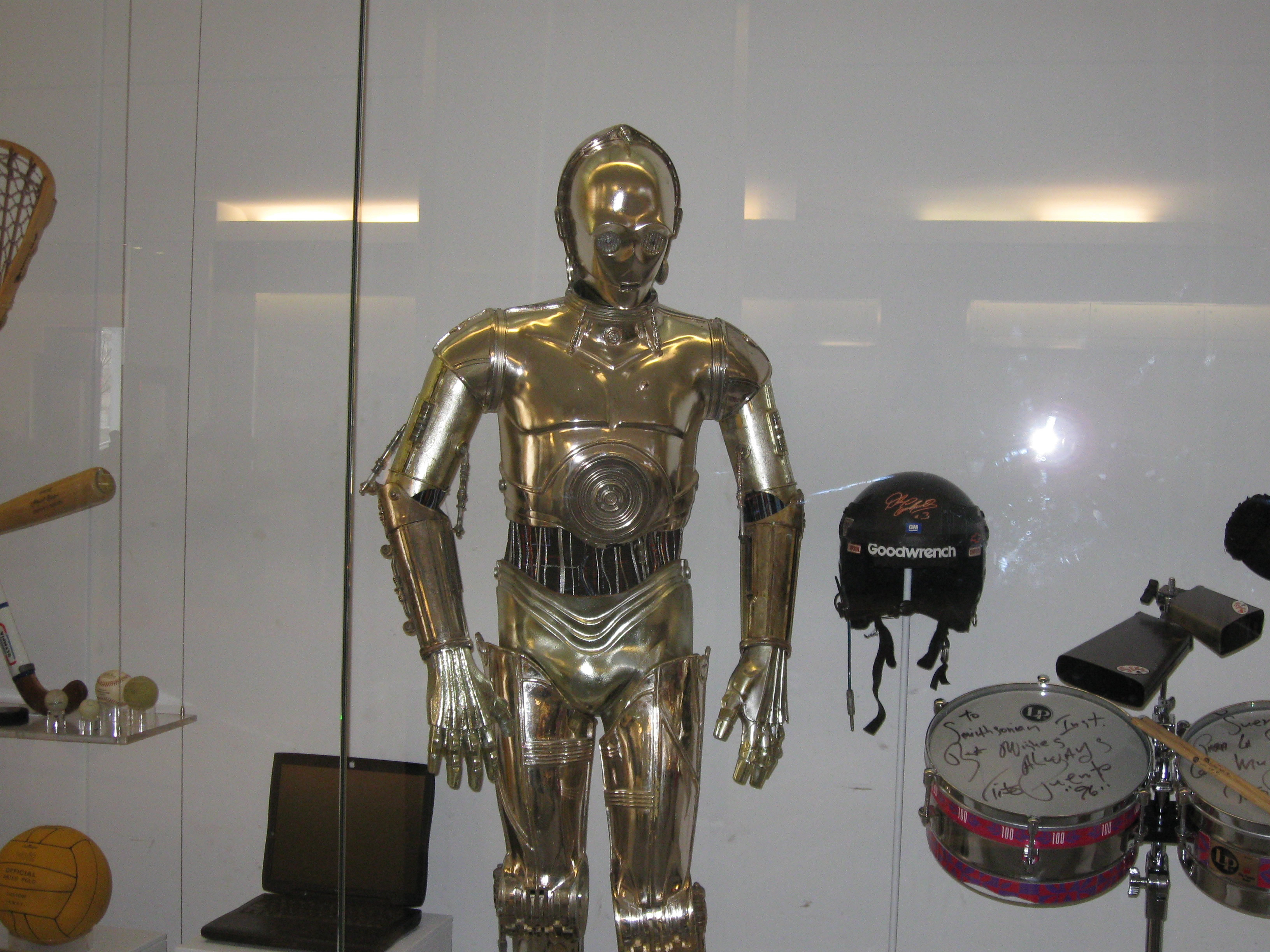 C3PO on exhibit at the Smithsonian Institution