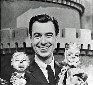 Mister Rogers with Cornflake S. Pecially and King Friday XIII