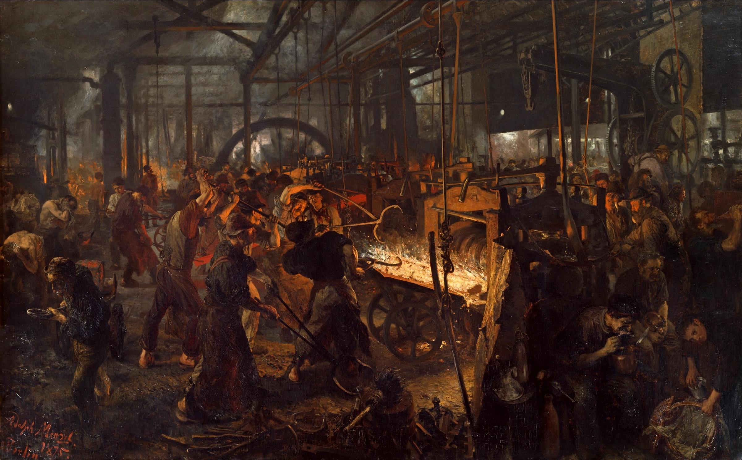 Painting of Iron Rolling Mill Workers