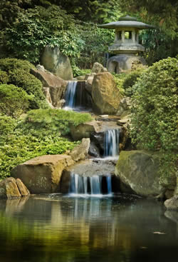 Shofuso Japanese House Waterfall