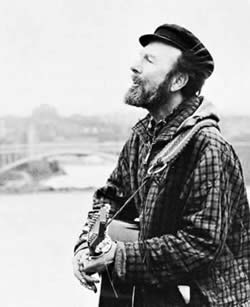 Pete Seeger in his Johnny Appleseed mode