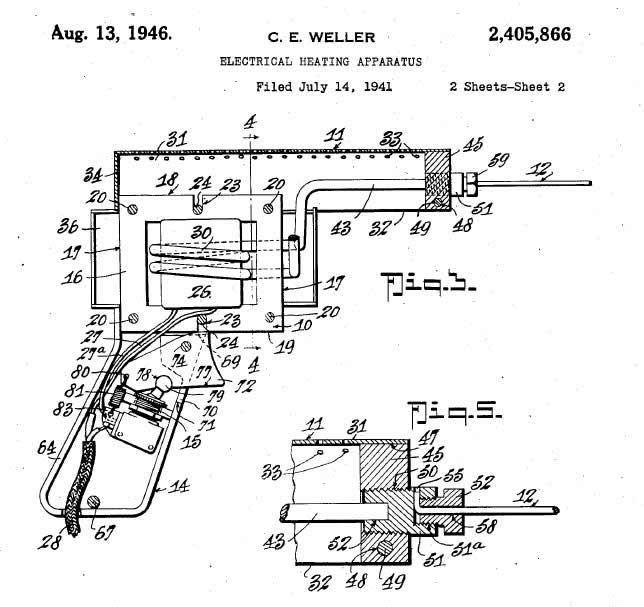 Patent Diagram for Weller's Soldering Gun