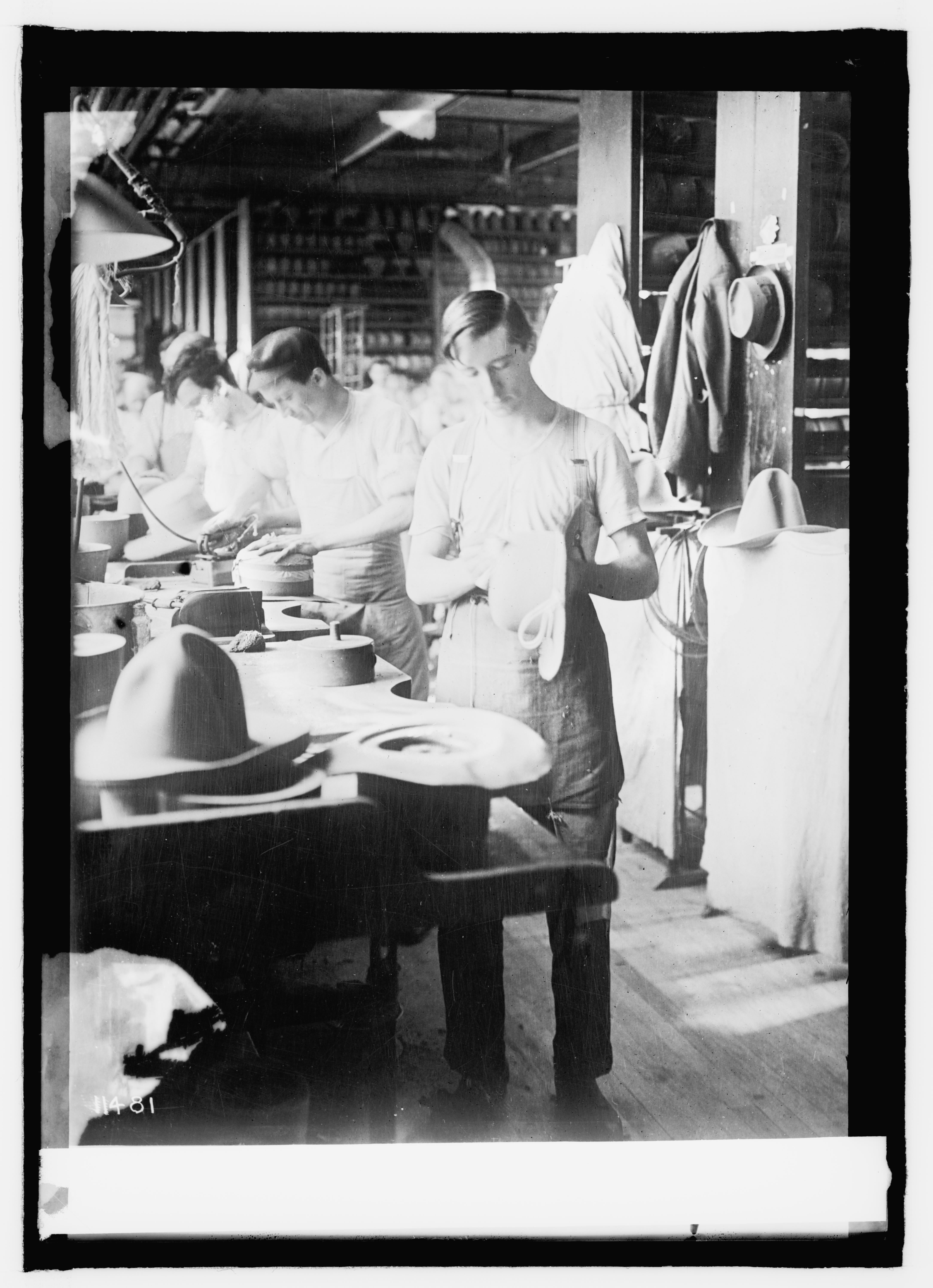 Stetson workers making U.S. Army Hats