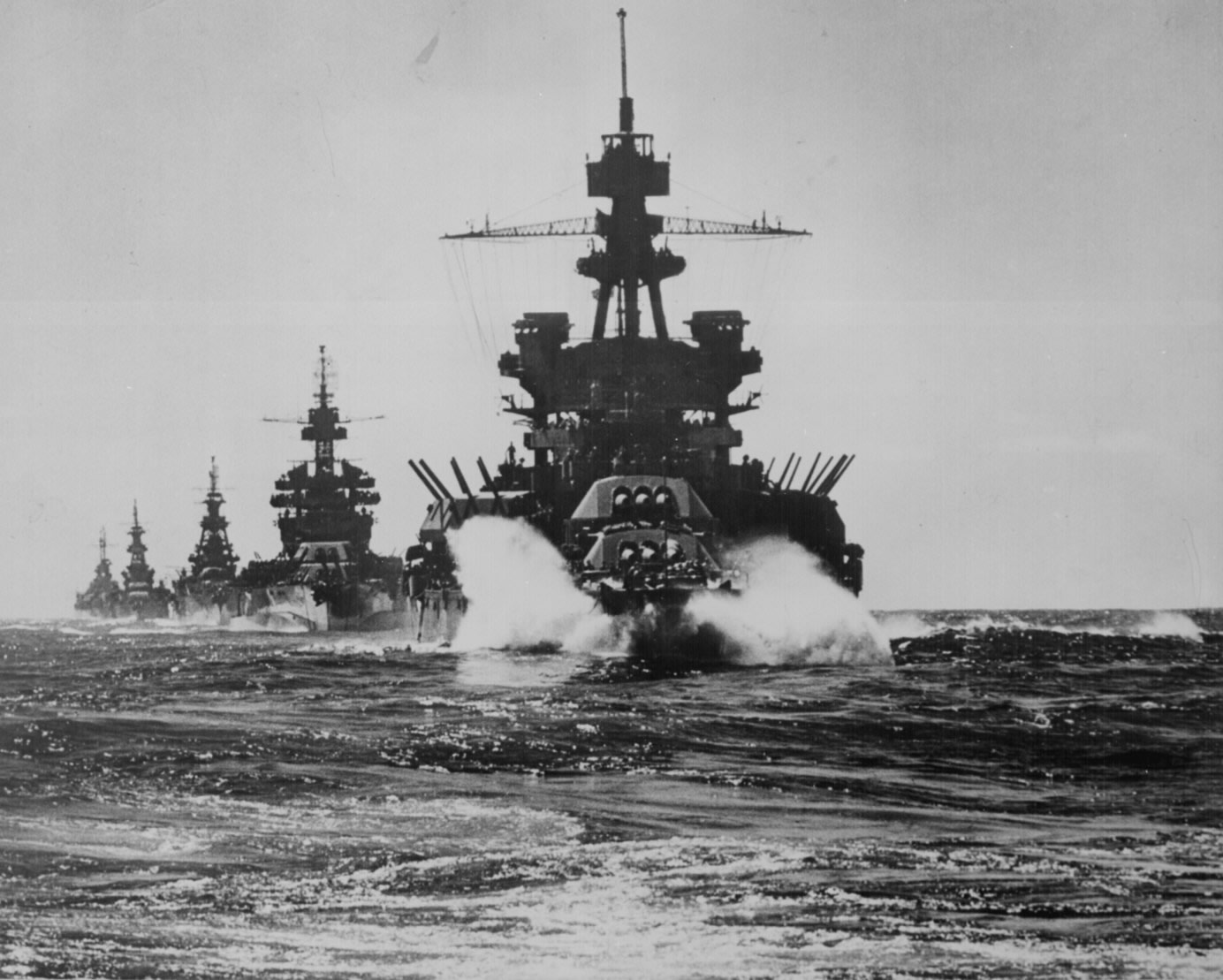U.S.S. Pennsylvania leading other battleships