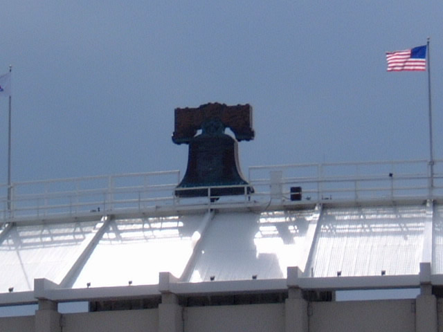 Bell atop the stands