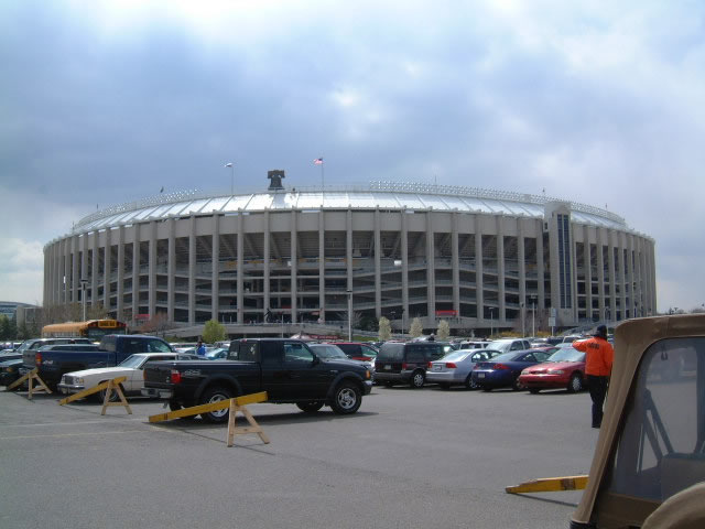 Exterior of Veterans Stadium