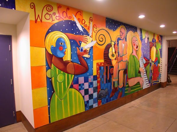 Mural in Downstairs Live