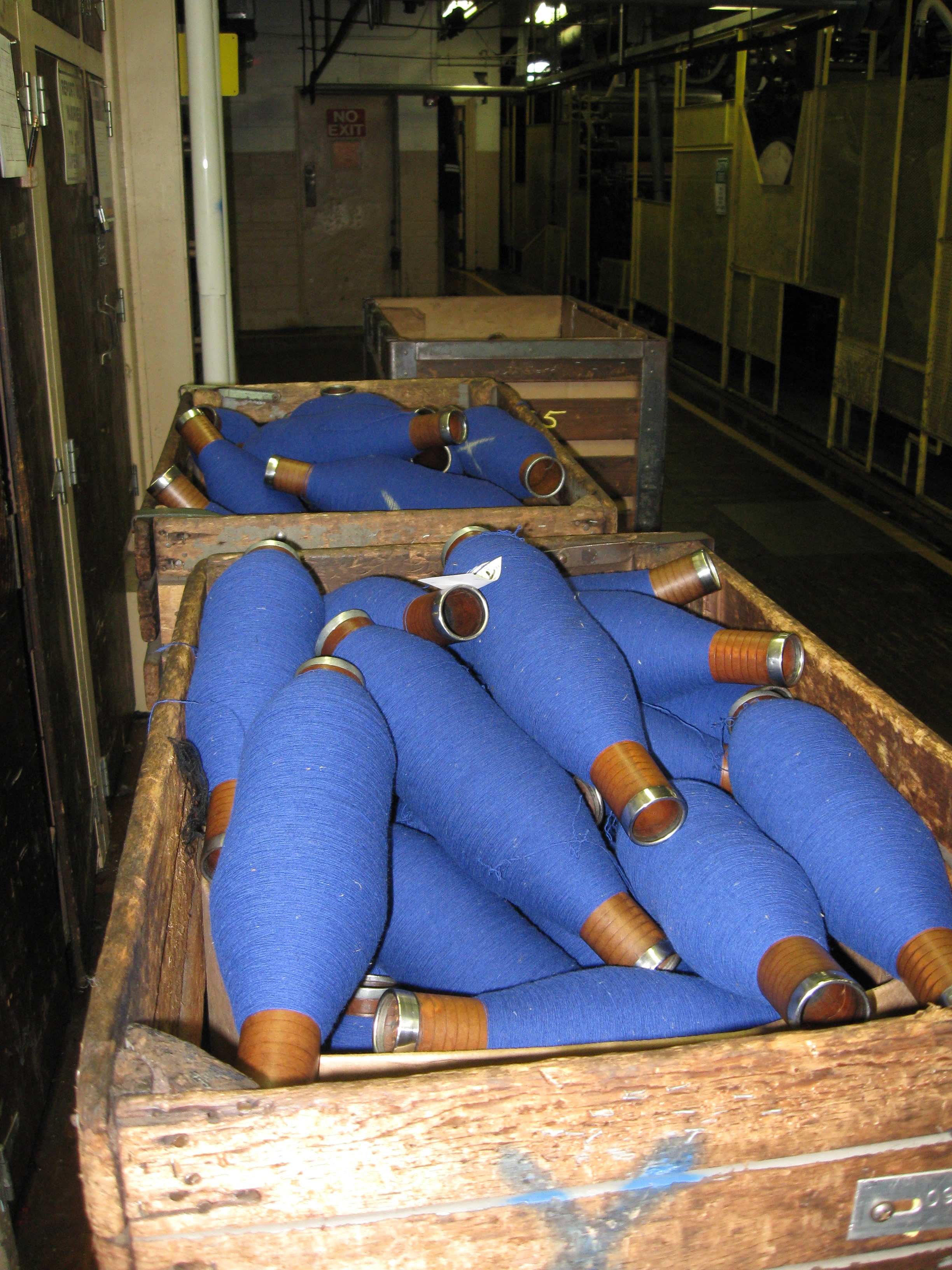Bobbins of Blue Thread