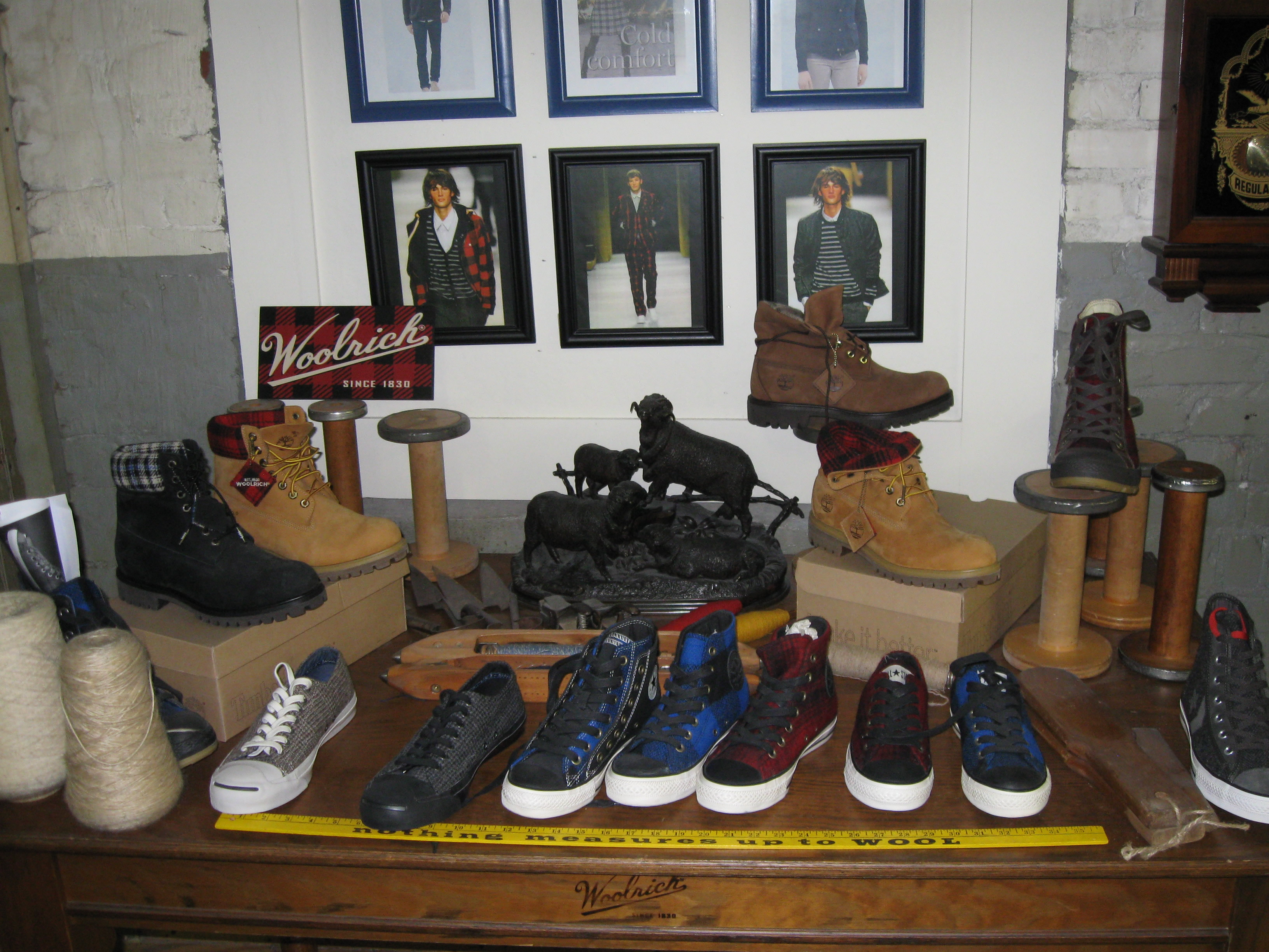 Woolrich Shoe display