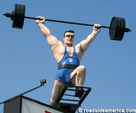 York Barbell Statue