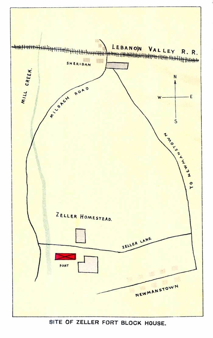Location of Fort Zeller from 1898