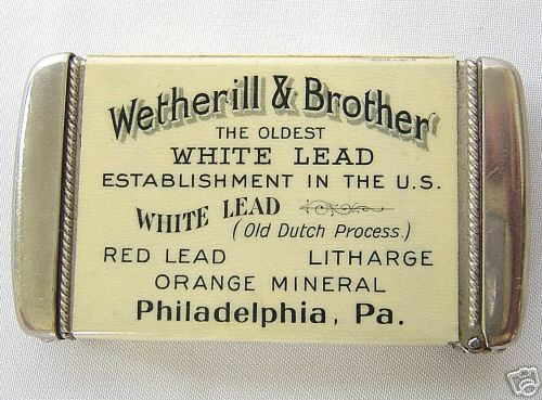 Match Safe with Wetherill and Brother Company advertising