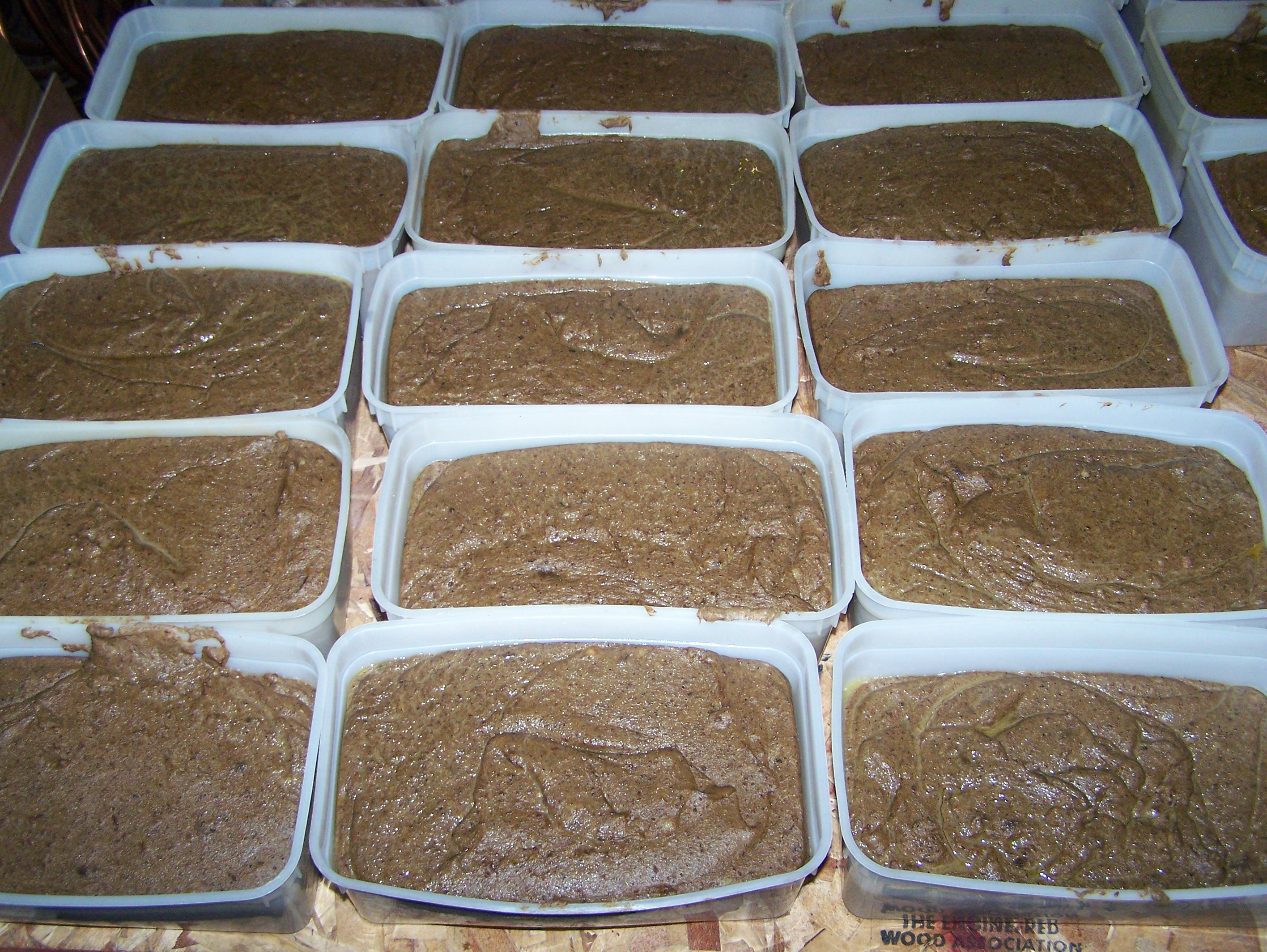 scrapple in trays