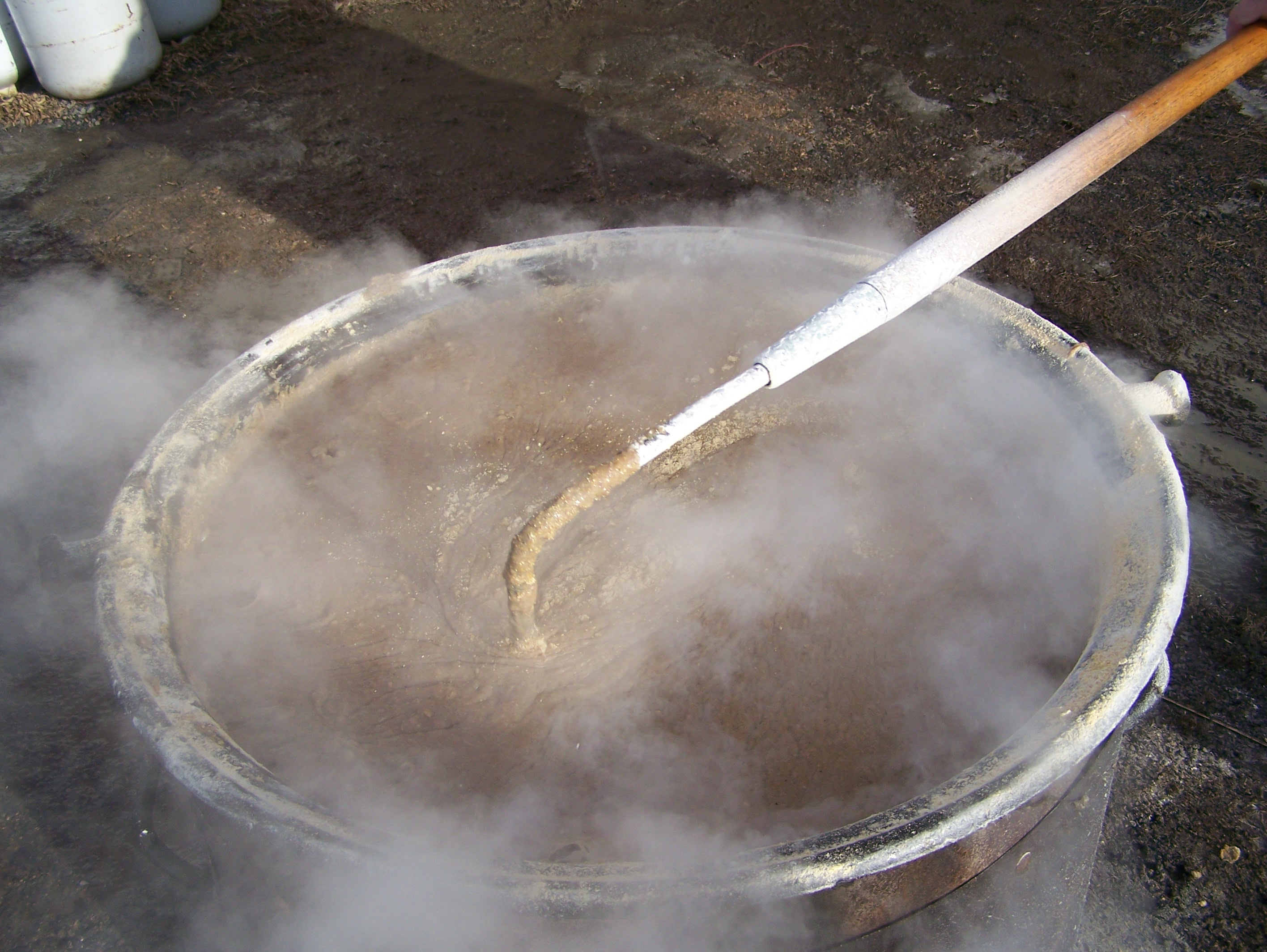 boiling scrapple