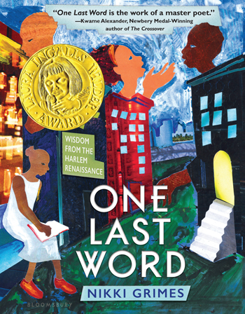 "This year's winner is One Last Word: Wisdom from the Harlem Renaissance written by Nikki Grimes (Bloomsbury, 2017). <a href=""https://pabook.libraries.psu.edu/awards-contests/lee-bennett-hopkins-poetry-award"">Read more about the 2018 Award</a>"