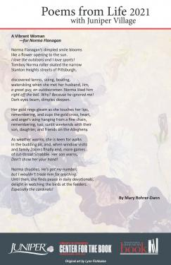 Poem - A Vibrant Woman for Norma Flanagan by Mary Rohrer-Dann