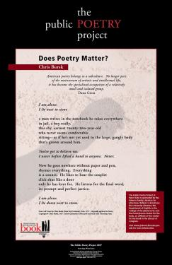 Does Poetry Matter?
