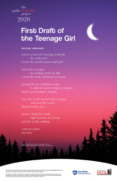 Poem - First Draft of a Teenage Girl