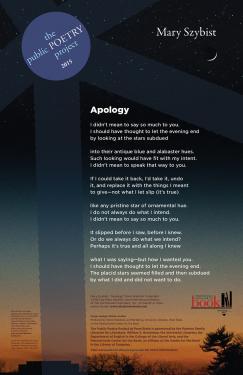 """Apology"" poster"